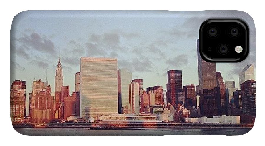 Europe IPhone Case featuring the photograph Nyc Sunrise by Randy Lemoine