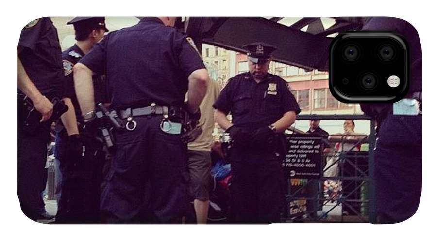 Summer IPhone Case featuring the photograph Nypd by Randy Lemoine