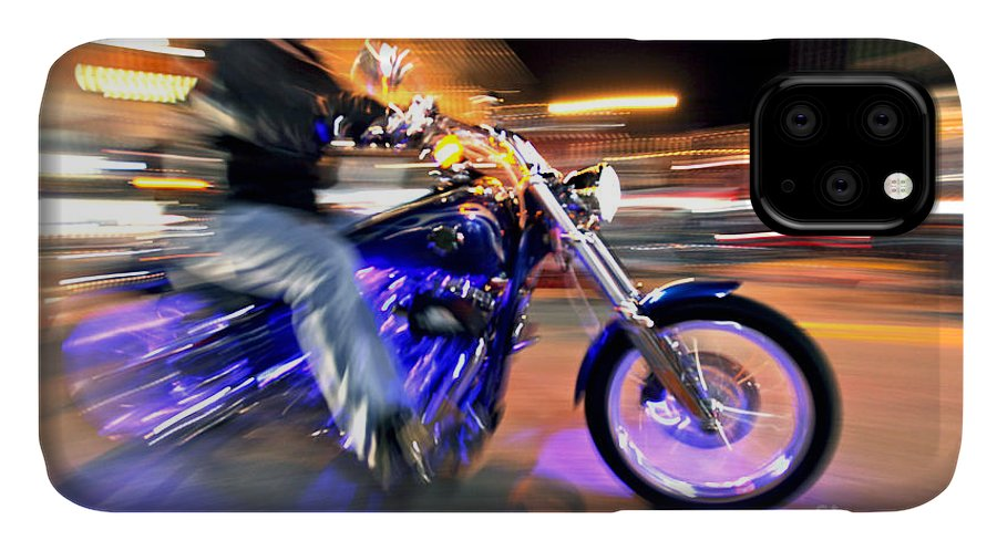 Motorcycles IPhone Case featuring the photograph Purple Passion by Glennis Siverson