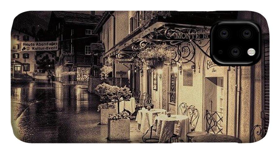 Rainy IPhone Case featuring the photograph #rainy #cafe #classic #old #classy #ig by Abdelrahman Alawwad