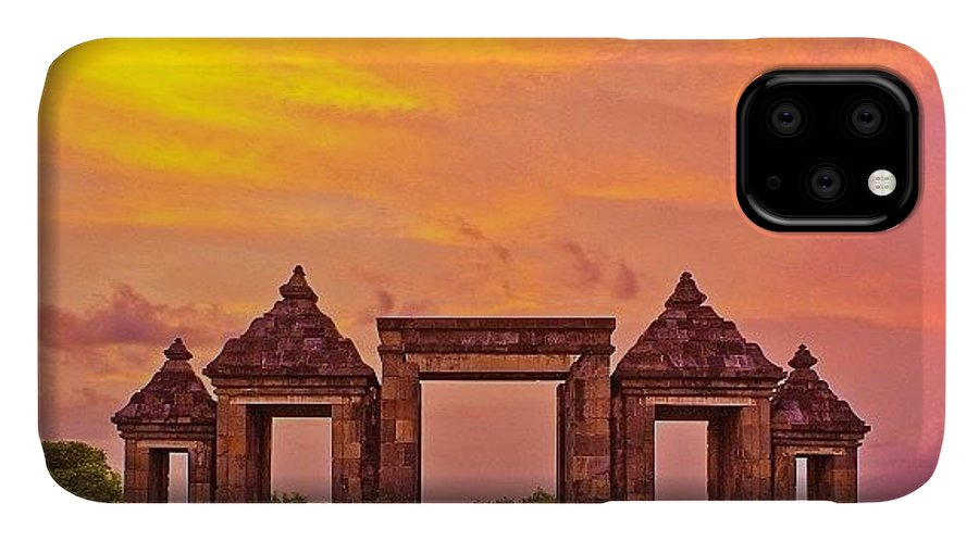 Art IPhone Case featuring the photograph Ratu Boko Is An Archaeological Site by Tommy Tjahjono