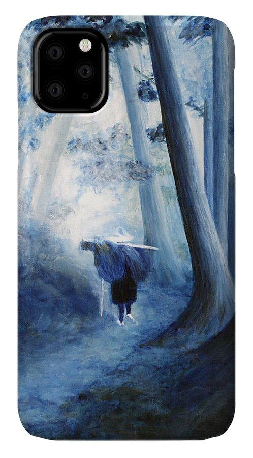Trees IPhone Case featuring the painting Road Home by Donna Walsh