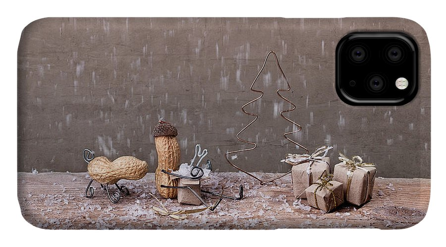 Peanut IPhone 11 Case featuring the photograph Simple Things - Christmas 07 by Nailia Schwarz