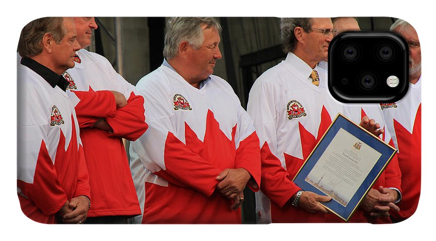 Team Canada IPhone Case featuring the photograph Team Canada 1 by Andrew Fare
