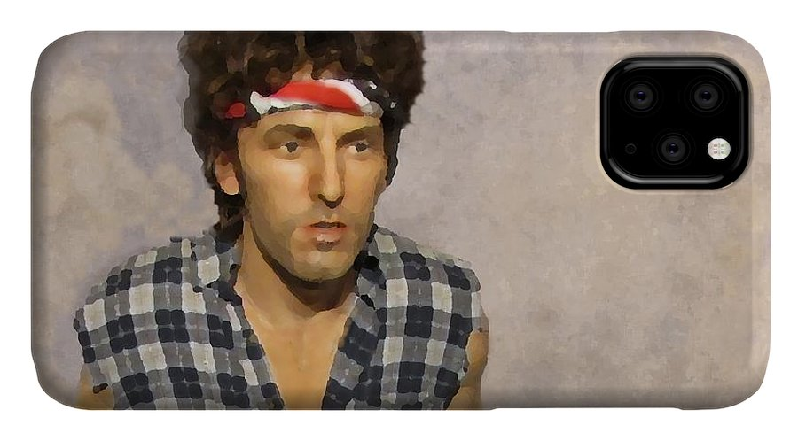 Bruce Springsteen IPhone Case featuring the photograph The Boss by David Dehner