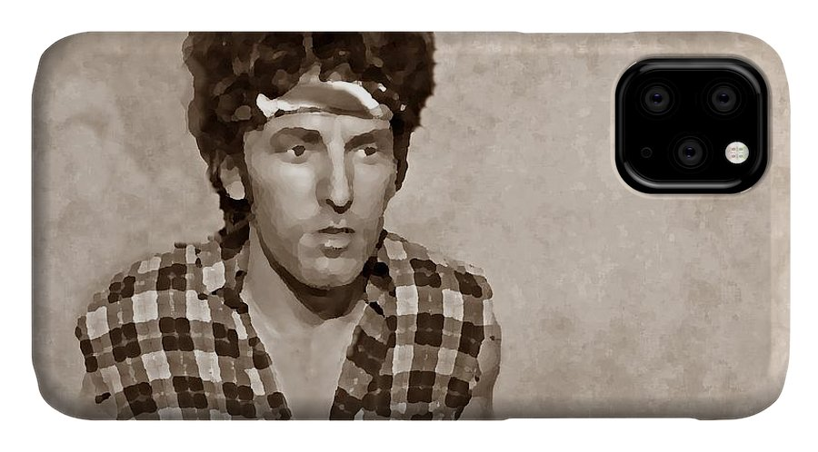 Bruce Springsteen IPhone Case featuring the photograph The Boss S by David Dehner
