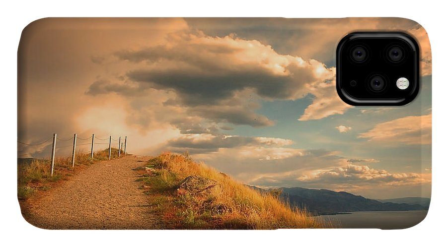 Clouds IPhone 11 Case featuring the photograph The Cloud Path by Tara Turner