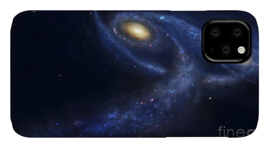 Andromeda IPhone Case featuring the digital art The Predicted Collision by Fahad Sulehria