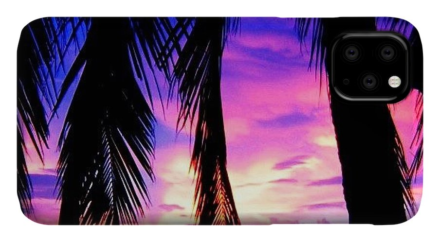 Sunset IPhone Case featuring the photograph Tropical Sunset by Luisa Azzolini