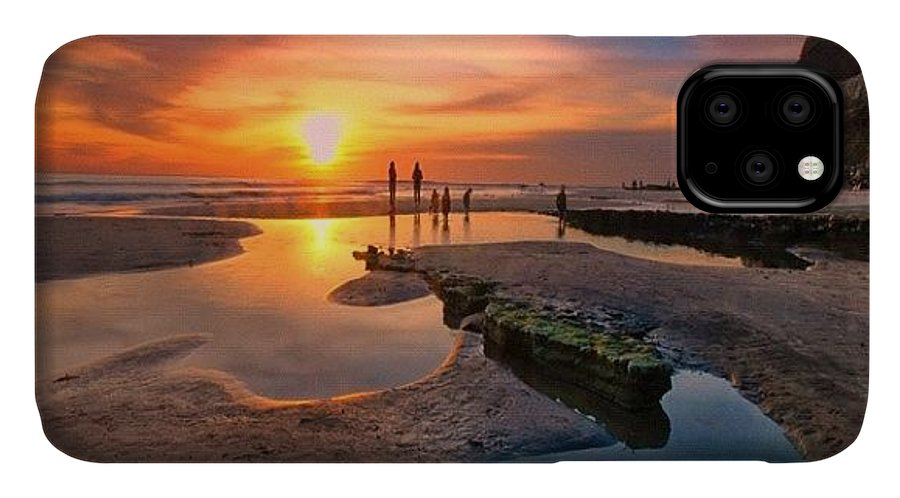 IPhone Case featuring the photograph Ultra Low Tide Sunset At A North San by Larry Marshall