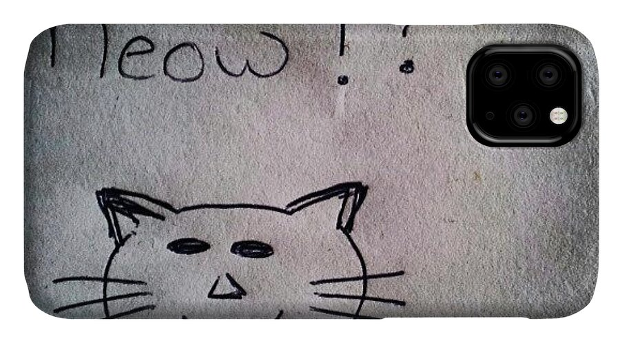 Funny IPhone Case featuring the photograph What My Room Mates Draw! #cat #drawing by Abdelrahman Alawwad