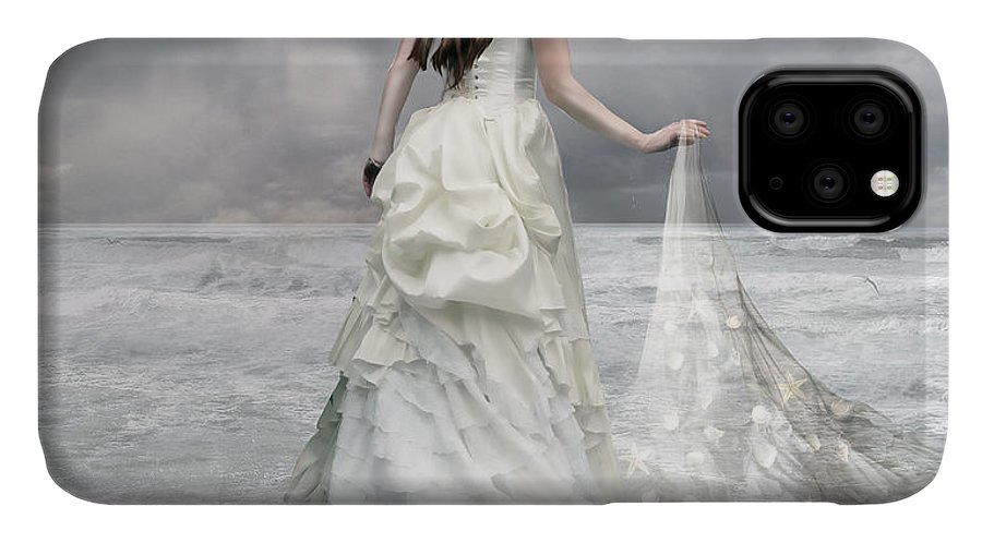 Woman IPhone Case featuring the digital art Whispered Waves by Karen Koski