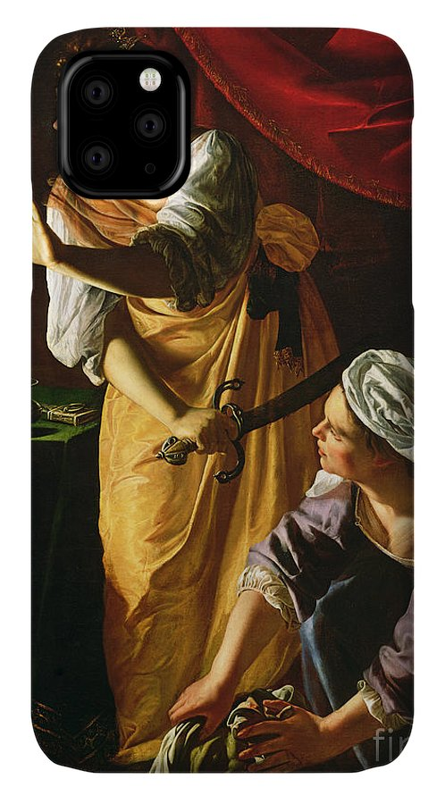 Judith IPhone 11 Case featuring the painting Judith And Maidservant With The Head Of Holofernes by Artemisia Gentileschi
