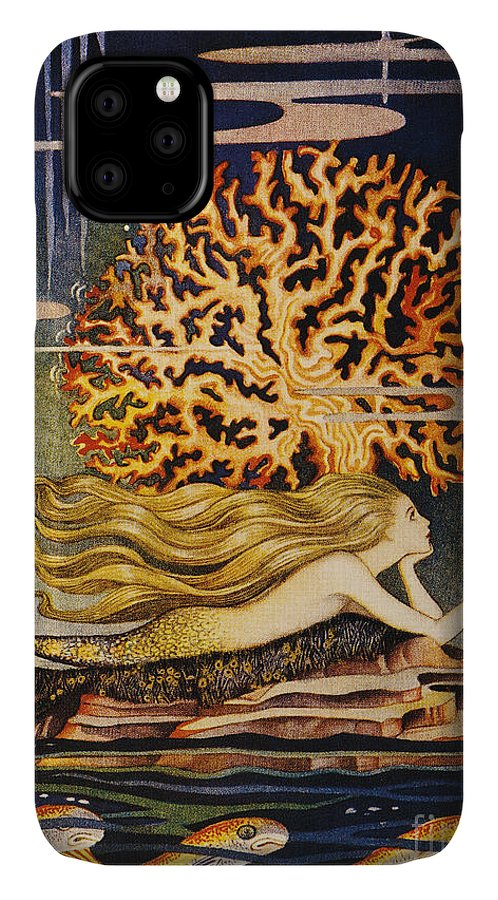 1932 IPhone 11 Case featuring the painting Andersen: Little Mermaid by Granger