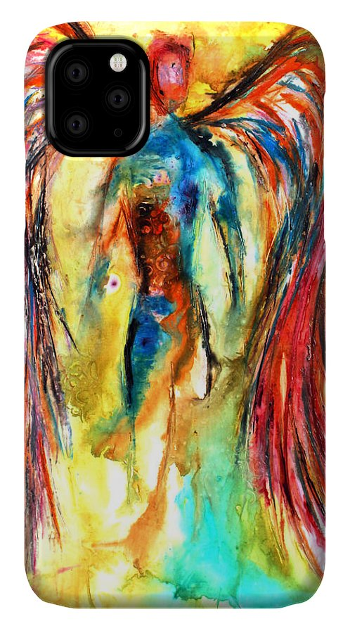 Angel IPhone Case featuring the mixed media Abundant Colors 1 by Ivan Guaderrama