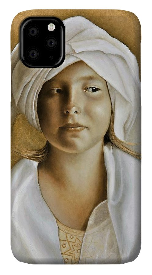 Portrait IPhone Case featuring the painting Angelinn by Nanne Nyander