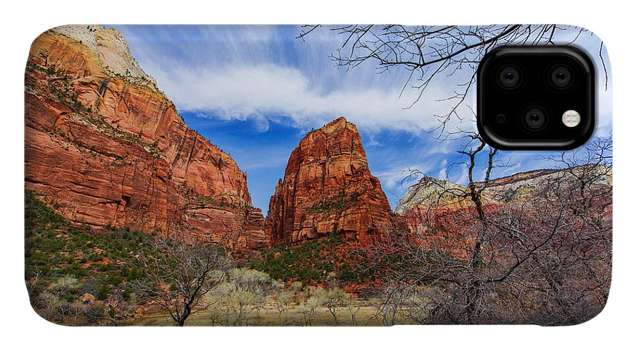 Angels Landing IPhone Case featuring the photograph Angels Landing by Chad Dutson