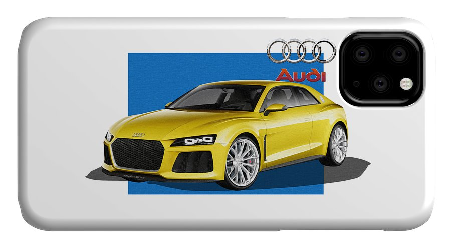 �audi� Collection By Serge Averbukh IPhone Case featuring the photograph Audi Sport Quattro Concept with 3 D Badge by Serge Averbukh