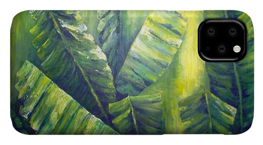 Bananas IPhone Case featuring the painting Bananas by Carol P Kingsley