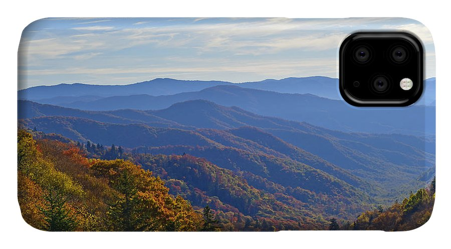 Ann Keisling IPhone 11 Case featuring the photograph Blue Ridge Parkway View by Ann Keisling