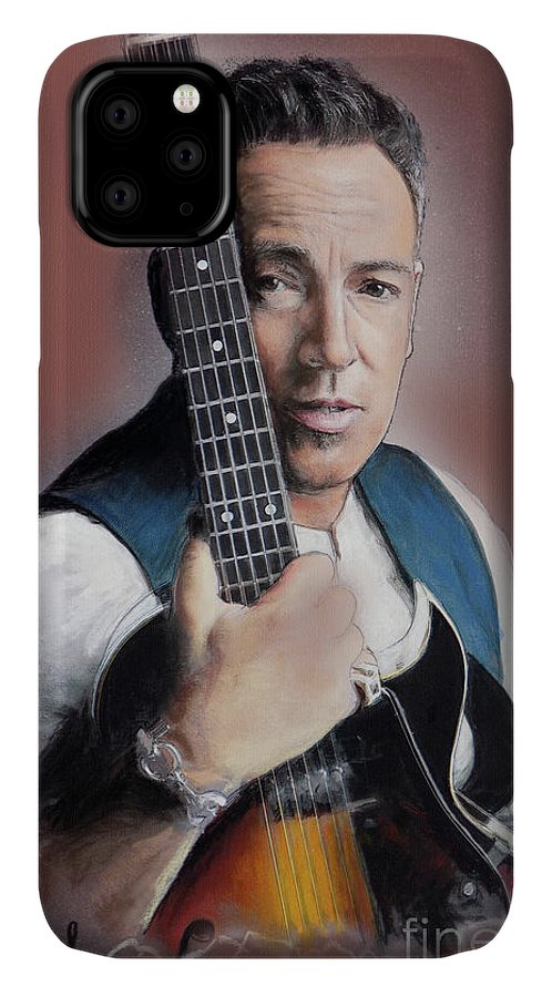 Bruce Springsteen IPhone Case featuring the painting Bruce Springsteen by Melanie D