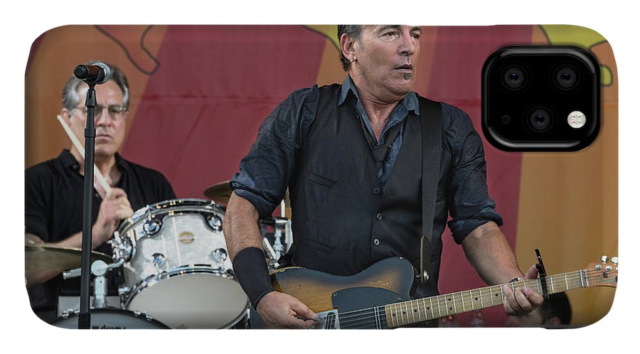 The Boss IPhone Case featuring the photograph Bruce Springsteen by William Morgan
