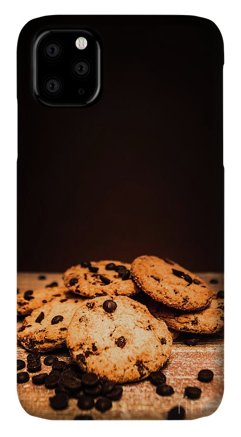 Baked IPhone 11 Case featuring the photograph Choc Chip Biscuits by Jorgo Photography - Wall Art Gallery
