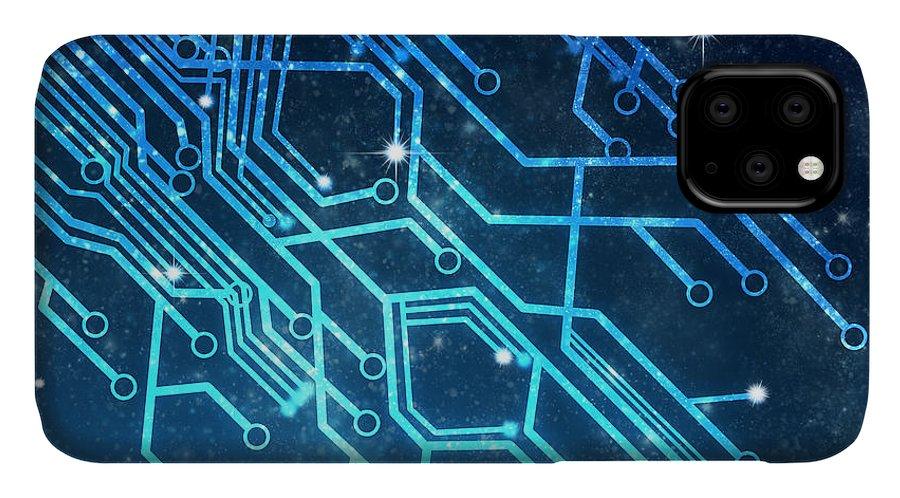 Abstract IPhone Case featuring the photograph Circuit Board Technology by Setsiri Silapasuwanchai