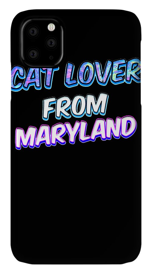 Cat IPhone Case featuring the digital art Dog Lover From Maryland by Kaylin Watchorn