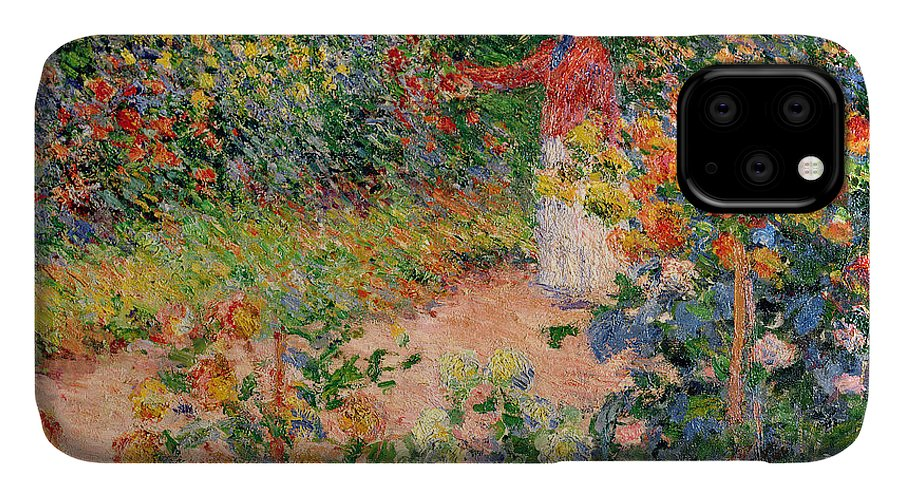 Garden IPhone Case featuring the painting Garden at Giverny by Claude Monet