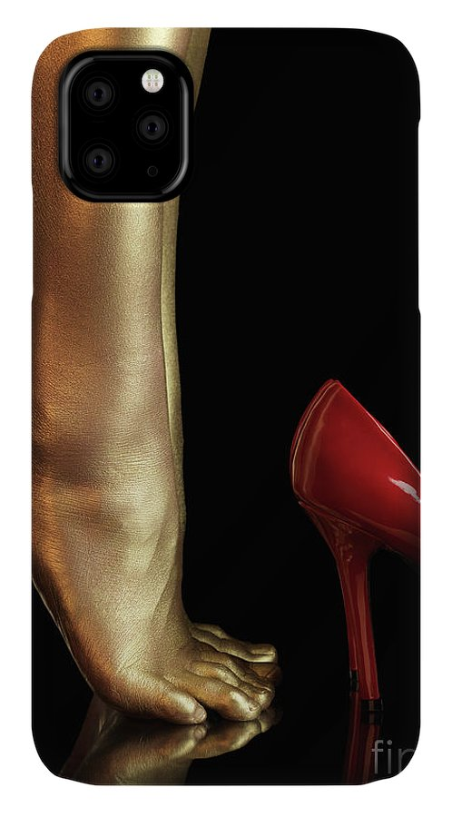 Legs IPhone Case featuring the photograph Golden Legs by Maxim Images Prints