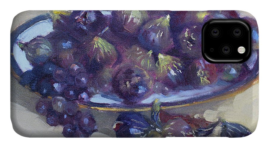 Greek Figs IPhone 11 Case featuring the painting Greek Figs by Ylli Haruni