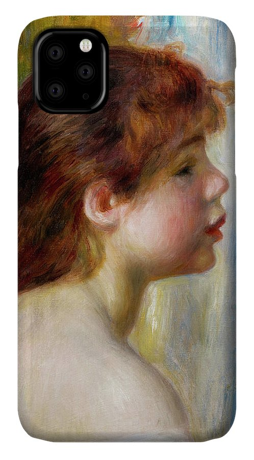 Young Woman IPhone Case featuring the painting Head Of A Young Woman by Pierre-Auguste Renoir