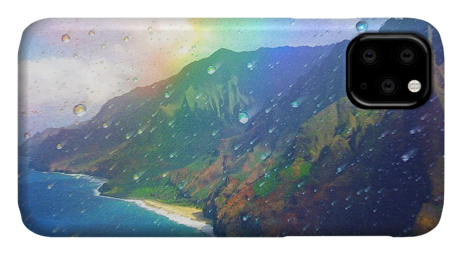 Rainbow IPhone Case featuring the painting Inside a Rainbow by Robby Donaghey