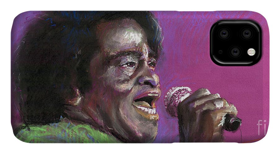 Jazz IPhone Case featuring the painting Jazz. James Brown. by Yuriy Shevchuk