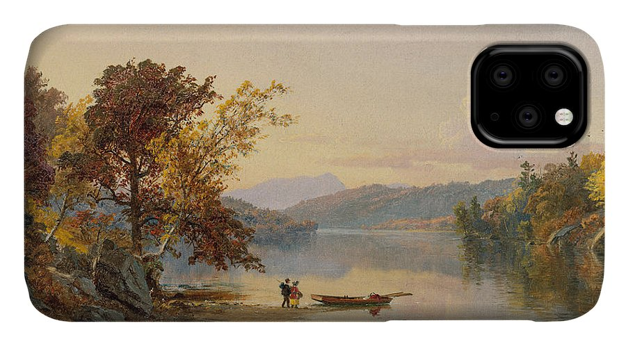 Cropsey IPhone 11 Case featuring the painting Lake George by Jasper Francis Cropsey