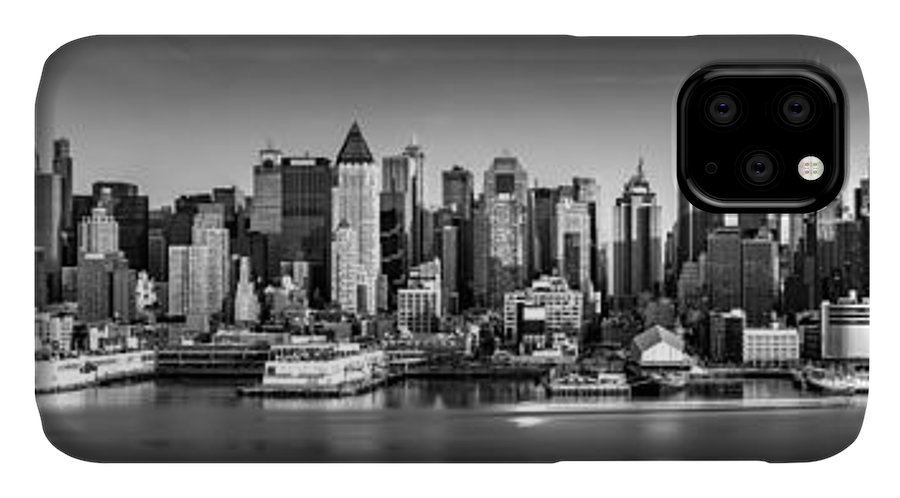 Fine Art IPhone Case featuring the photograph New York City Panorama by Mihai Andritoiu