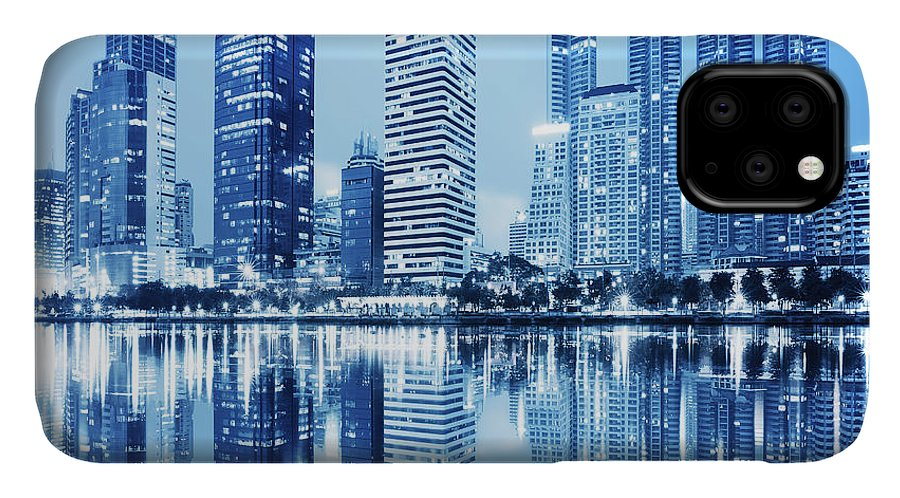 Architecture IPhone Case featuring the photograph Night Scenes Of City by Setsiri Silapasuwanchai