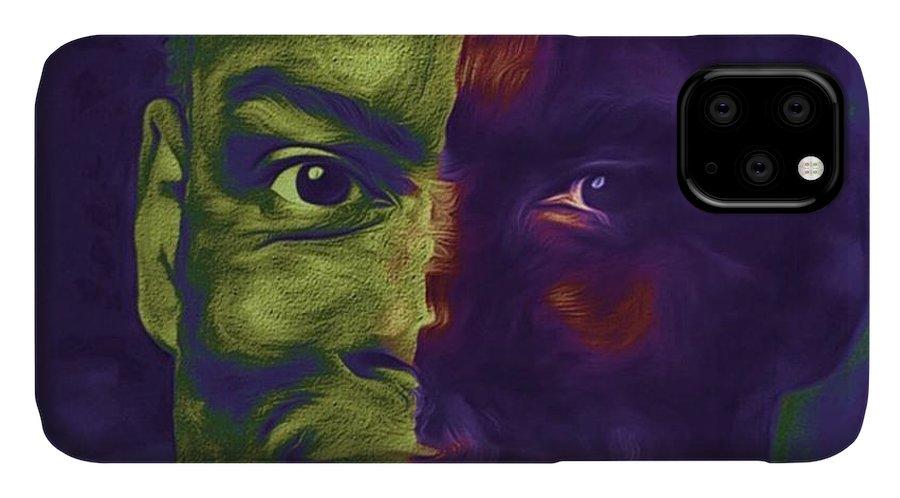 Eyes IPhone Case featuring the photograph #oscars @chrisrock @jerryseinfeld by David Haskett II