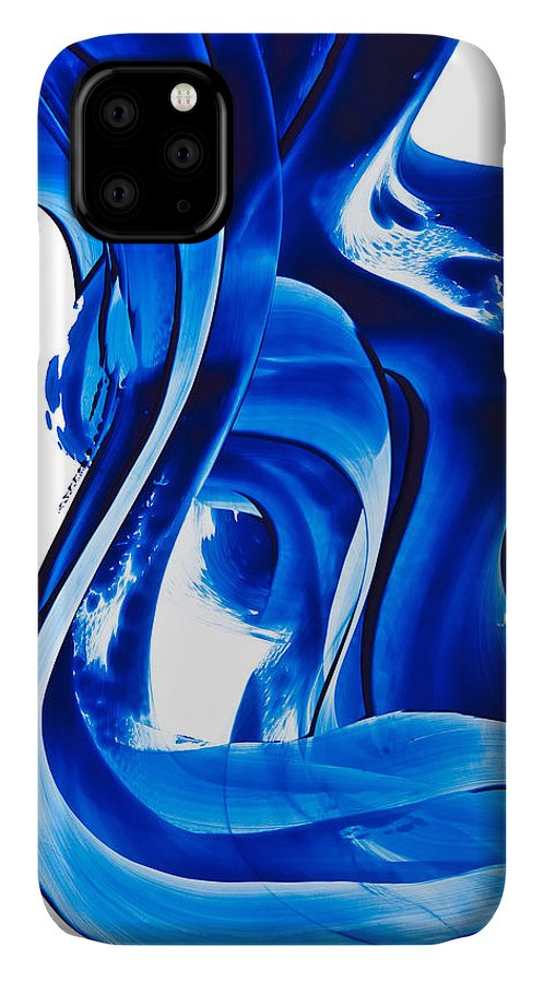 Abstract Art IPhone Case featuring the painting Pure Water 66 by Sharon Cummings