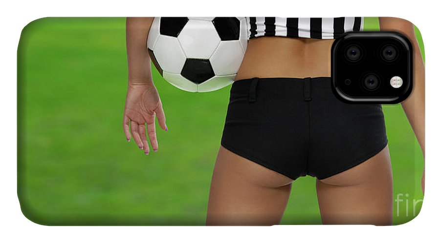 Soccer IPhone Case featuring the photograph Sexy Referee by Maxim Images Prints