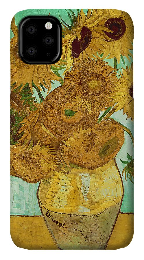 Sunflowers IPhone Case featuring the painting Sunflowers by Van Gogh by Vincent Van Gogh