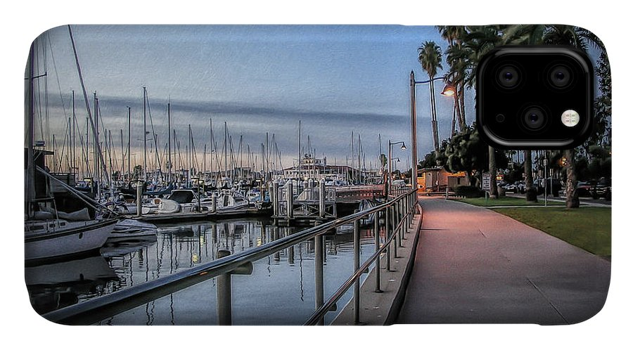 Sunrise IPhone Case featuring the photograph Sunrise Over Santa Barbara Marina 1 by Tom Mc Nemar
