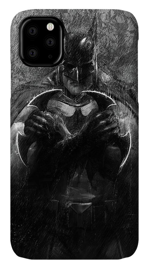 Dark Knight IPhone Case featuring the digital art The Detective 1 by Steve Goad