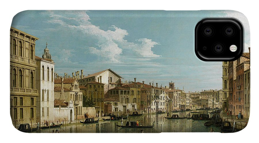 Campo San Marcuola IPhone Case featuring the painting The Grand Canal In Venice From Palazzo Flangini To Campo San Marcuola by Canaletto