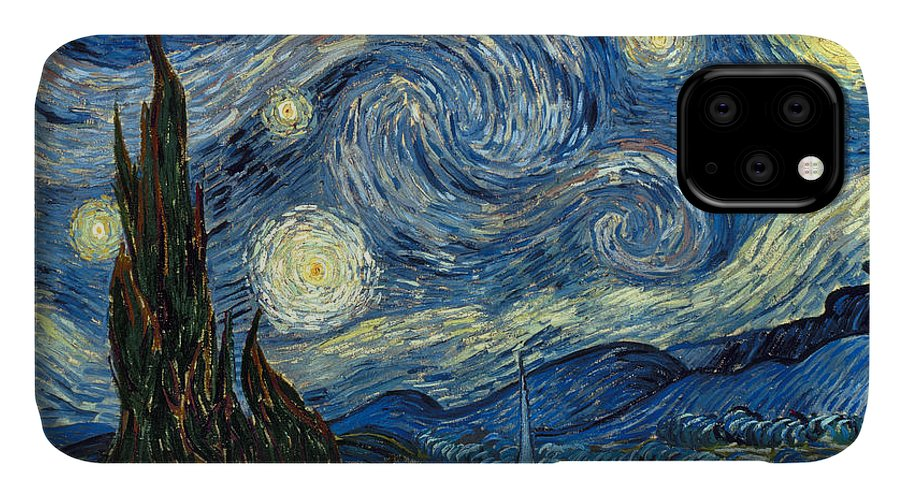 1889 IPhone Case featuring the painting Van Gogh Starry Night 3 by Granger