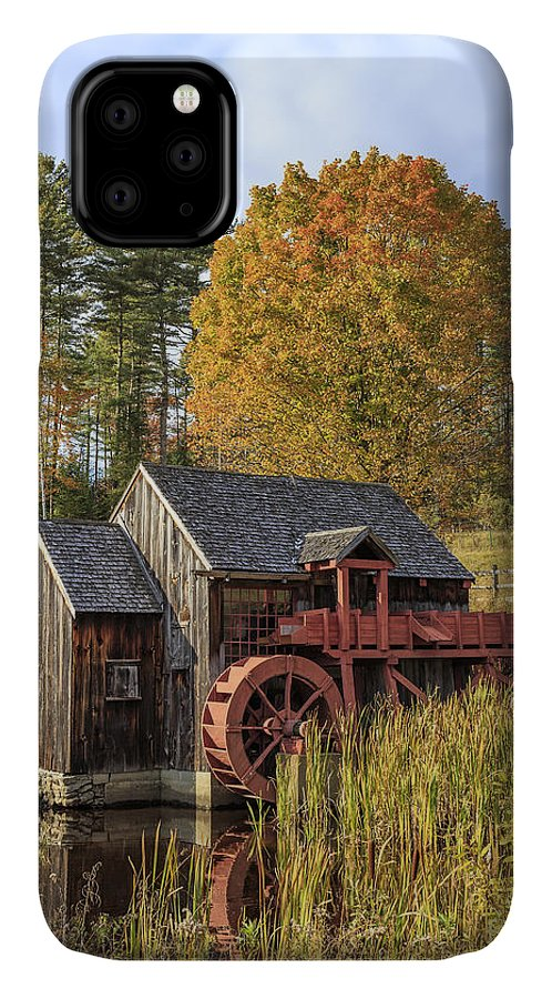 Vermont IPhone Case featuring the photograph Vermont Grist Mill by Edward Fielding