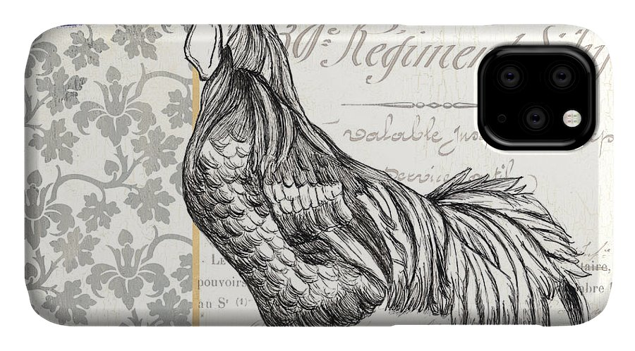 Rooster IPhone Case featuring the painting Vintage Farm 1 1 by Debbie DeWitt