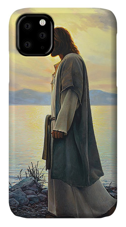 Jesus IPhone Case featuring the painting Walk With Me 1 by Greg Olsen