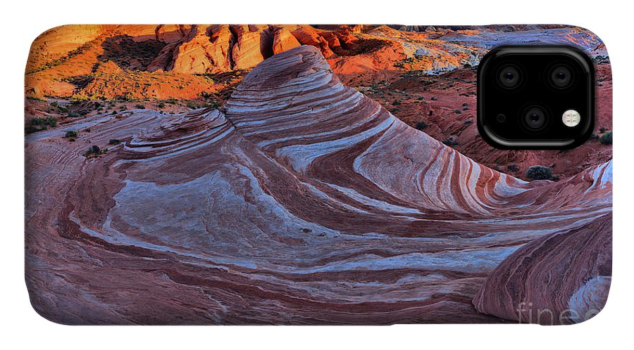 Fire Wave IPhone 11 Case featuring the photograph Fire Wave Panorama by Adam Jewell